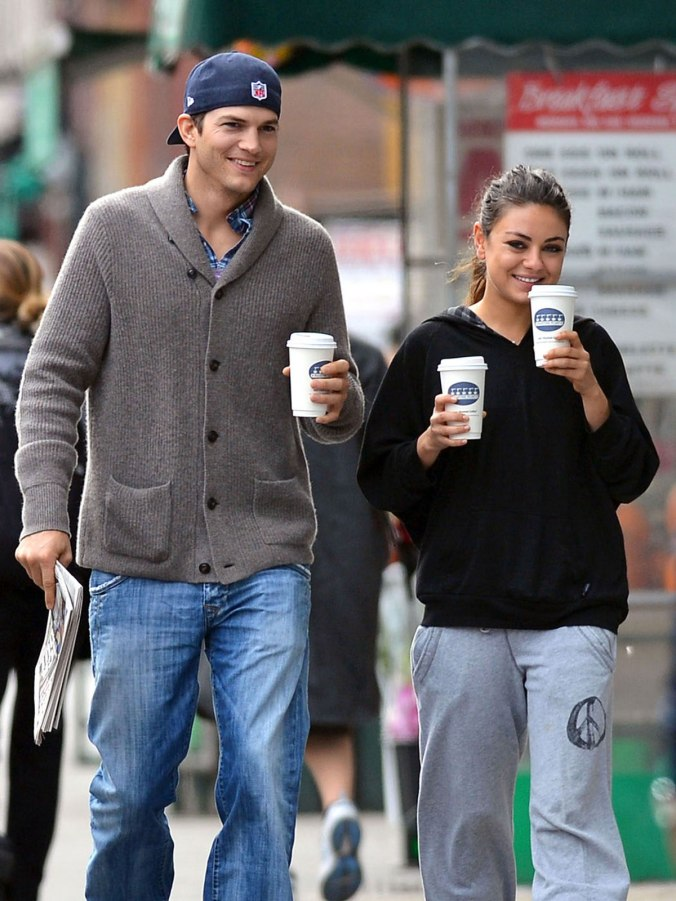 MILA KUNIS and Ashton Kutcher in New York